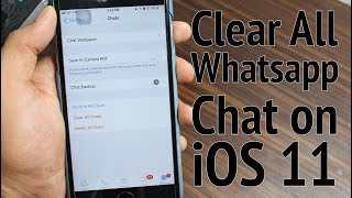 How to Clear WhatsApp Chat History on iPhone