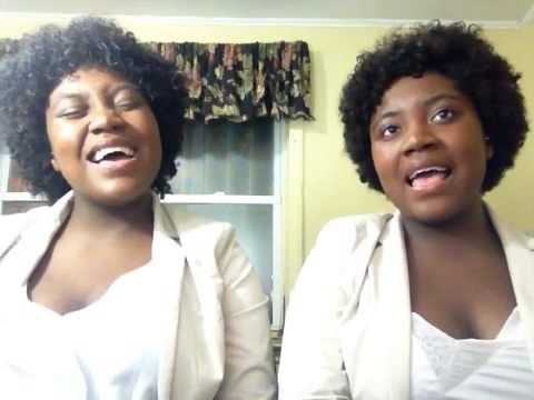 Beautiful! Talented twins sing Chandelier...