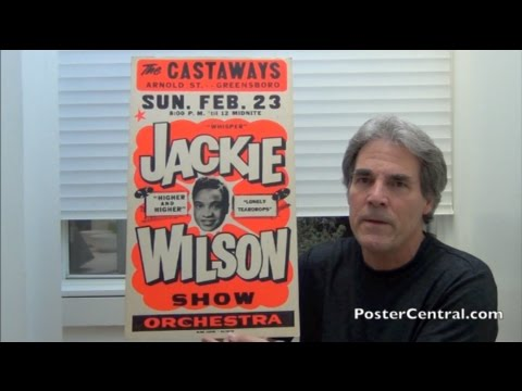 Jackie Wilson Concert Poster 1960's BoxingStyle Gem
