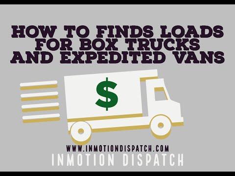 How To Find Loads For Box Trucks,Sprinter Vans, And Cargo Vans On DAT Loadboard