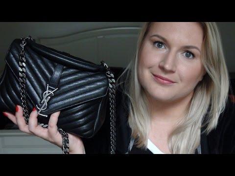 f9bf38674c7 YSL COLLEGE BAG SHOULDER TO CROSSBODY STRAP - YouTube