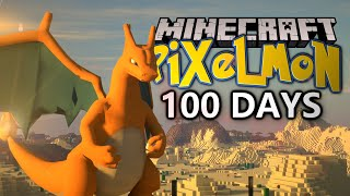 I Spent 100 DAYS In Minecraft Pokémon! This Is What Happened..