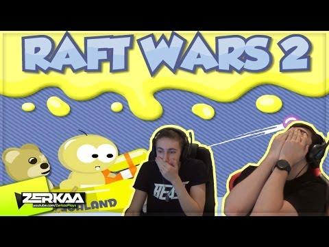 3 YEAR OLD SIMON | Raft Wars 2 (with Simon)