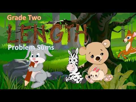 Grade 2 (Primary 2) -  Length Worksheet - Problem sum