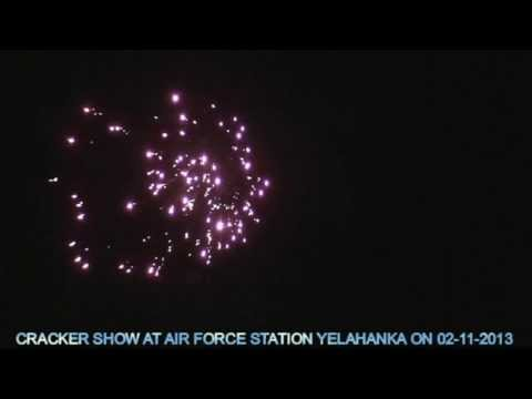 CRACKER SHOW AT AIR FORCE STATION YELAHANKA ON ( 02 -11- 2013),BANGALORE, KARNATAKA,INDIA