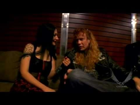 Metal Sanaz interviews Dave Mustaine for Dean Guitars NAMM 2010