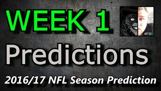 Week 1 - 2016 NFL Predictions