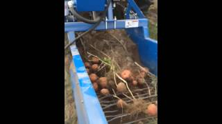 US small farm potato digger