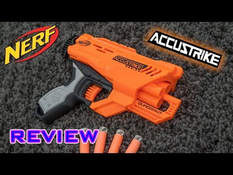 [REVIEW] Nerf Accustrike Quadrant   Unboxing, Review, & Firing Demo!
