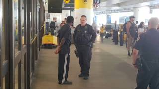 LAX airport police On a suspicious man at Los Angeles International Airport