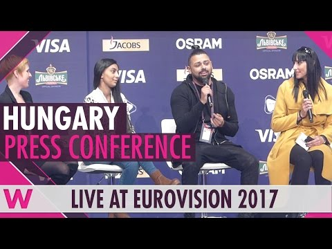 "Hungary Press Conference — Joci Pápai ""Origo"" Eurovision 2017 