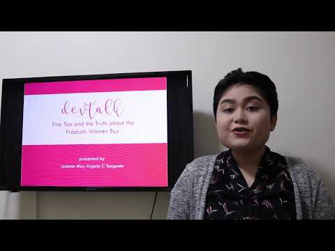 DEVTALK on Pink Tax by JMAC Tangente