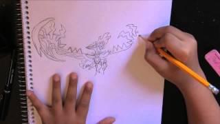 Draw Mega Yveltal - Pokemon  SOLO