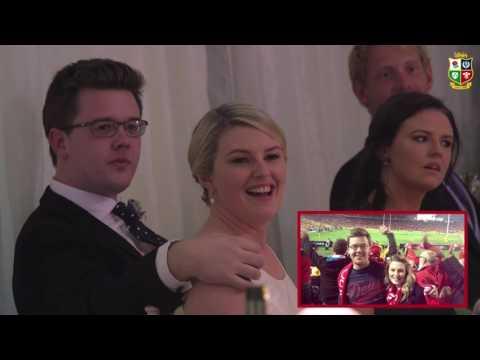 Surprise message for Lions wedding couple from Warren Gatland | The British & Irish Lions