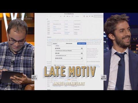 LATE MOTIV - David Broncano. Actualizando el perfil de wikipedia  | #LateMotiv131