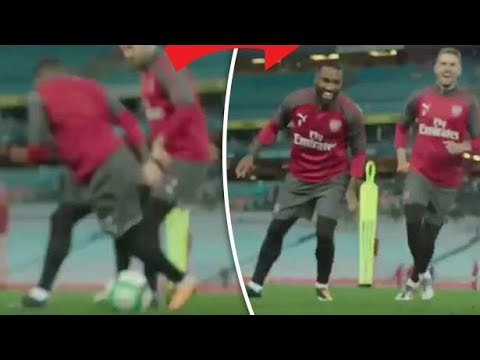 Cheeky Nutmeg from Aaron Ramsey leaves lacazette awestruck🔥