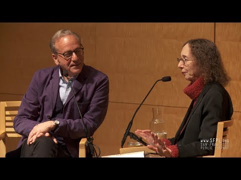 Joyce Carol Oates and Jonathan Santlofer at the San Francisco Public Library