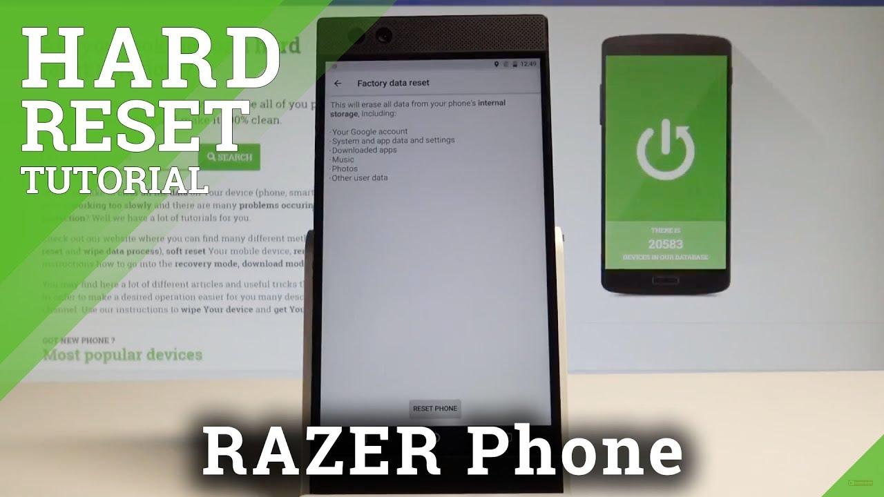 Hard Reset RAZER Phone, how to - HardReset info