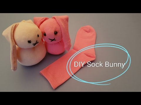 How to make a Sock Bunny DIY Tutorial
