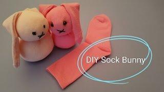 How to make a Sock Bunny DIY Tutorial