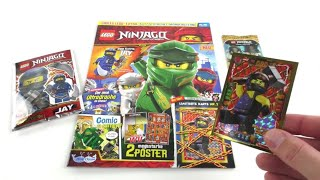 LEGO Ninjago Magazin Nr. 46 Februar 2019 Review + 10 Booster Trading Card Game Serie 4