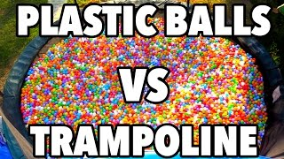 TRAMPOLINE VS 10,000 PLASTIC BALLS OLYMPICS!!!