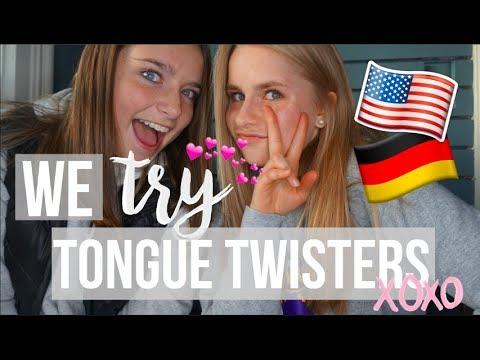 WE TRY AMERICAN AND GERMAN TONGUE TWISTERS!! ⎪AUSLANDSJAHR 2017/18