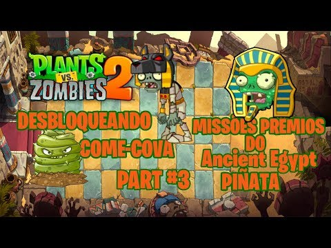 Plants vs. Zombies 2: It's About Time DESBLOQUEANDO COME-COVA MISSÕES PIÑATA- Ancient Egypt