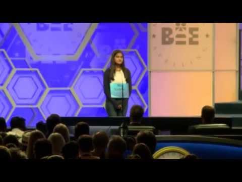 Co-champion Vanya Shivashankar at 2015 Scripps National Spelling Bee