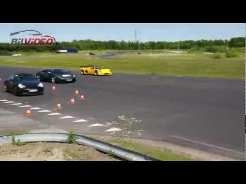 Ultima Can Am against a Lamborghini LP640