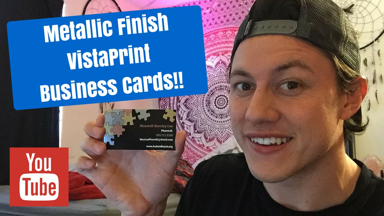 2017 - Metallic Finish VistaPrint Business Cards Unboxing!!! - YouTube