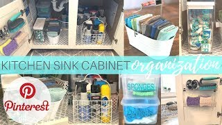 Under the Kitchen Sink Cabinet Organization | How to Organize | Decluttering | Clean With me