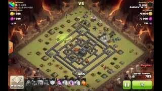 Clash Of Clan - 3 Star Anti 2 Star Max th9 Base (Moat Base)