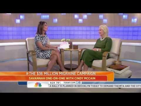Cindy McCain - 36 Million Migraine Campaign Launch