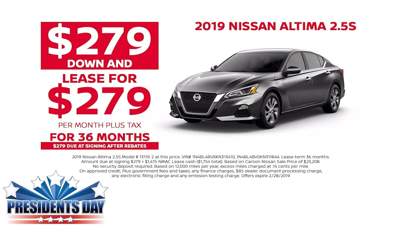 Nissan Murano Lease Deals >> Lease A Brand New 2019 Nissan Altima 2 5s This Presidents Day Exp 2 28 2019