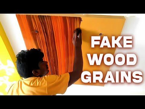 Faux Wood Grain Painting Technique |Wood Grain Effect On ceiling
