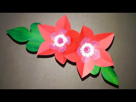 Paper: Flowers: Pro: Diy:   How to make nice flower by paper   Very easy craft ideas