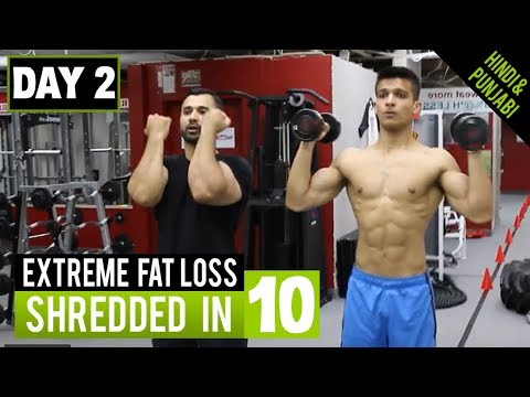 NO GYM! Extreme Fat Loss Workout DAY-2 (Hindi / Punjabi)