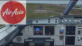 AirAsia A320 Landing // Changi Intl Airport Singapore // FSX Steam Edition