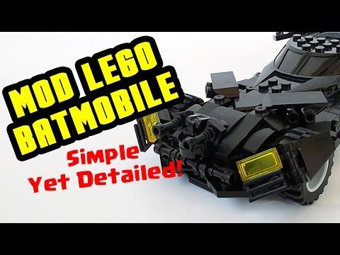 How To Mod Batmobile (Batman v Superman ver.) Lego Compatible - Simple yet Detail