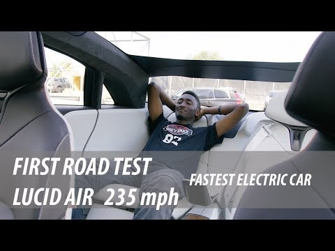 Road Test Lucid Air Electric car Insane Speed