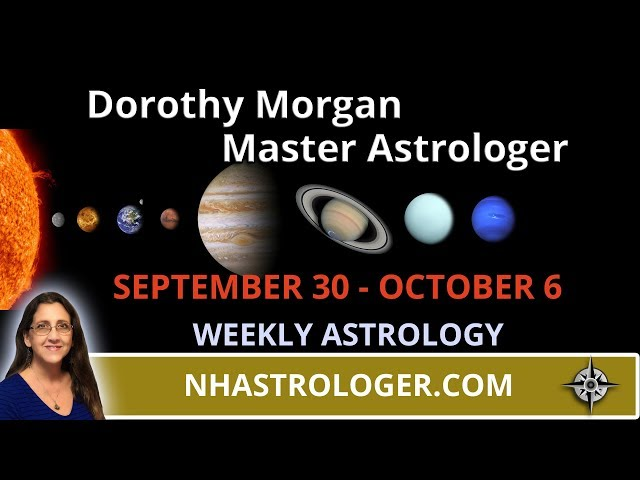 Weekly Astrology September 30th - October 6th Mercury Scorpio - Mars Libra