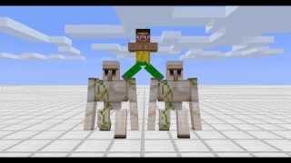 Jean Klod Vandam Volvo Minecraft Animation