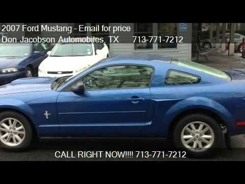 2007 ford mustang v6 premium coupe for sale in houston tx 7 youtube. Black Bedroom Furniture Sets. Home Design Ideas