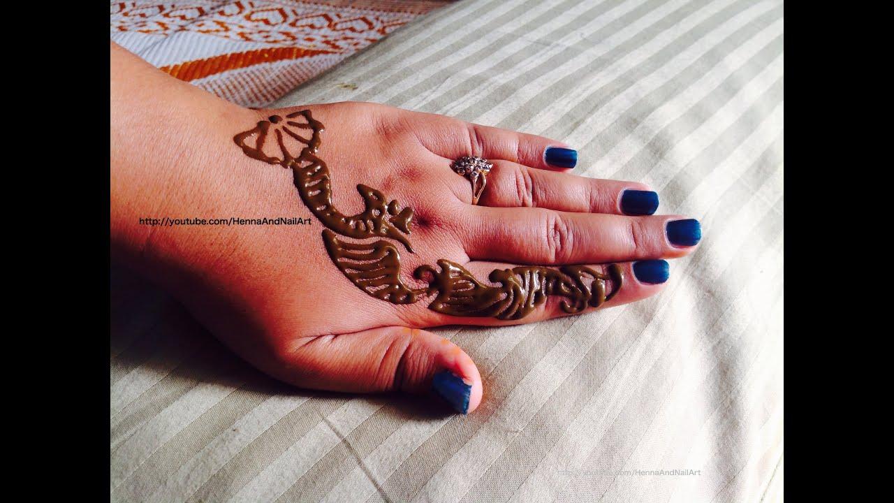 DIY 2 Minute Henna Mehndi Tattoo Design - YouTube