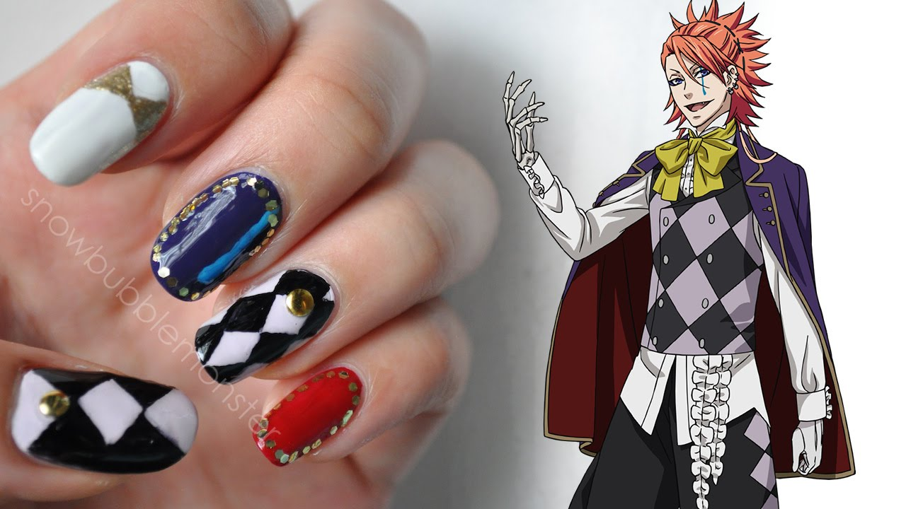 Book Of Circus Joker Inspired Nails Snowbubblemonster Youtube