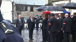 Eure: obsèques du policier Franck Brinsolaro à Bernay