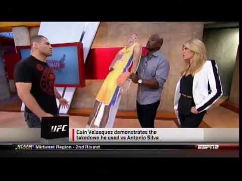 Cain Velasquez shows off fighting techniques on Sportsnation