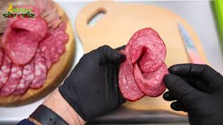 як зробити нарізку з ковбаси і сиру