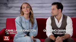 Grey's Anatomy's Camilla Luddington and Giacomo Gianniotti talk about joluca